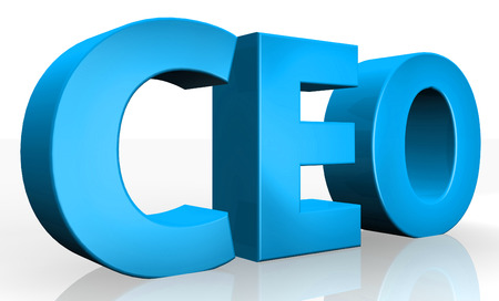 ceo: 3D ceo text on white background