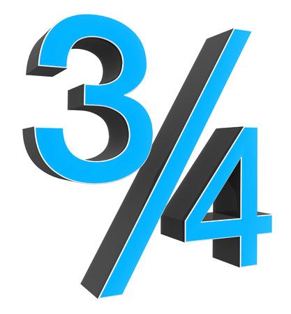 fraction: fraction on white background Stock Photo