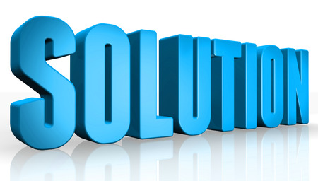 complete solution: 3D solution text on white background Stock Photo