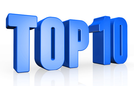 ten best: Top 10 - 3d illustration on white background