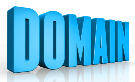 ip address: 3D domain text on white background