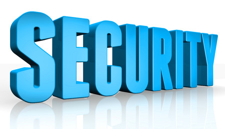 undisclosed: 3D security text on white background