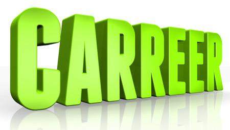 carreer: 3D carreer text on white background