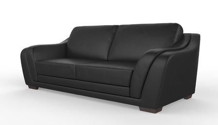 leather background: sofa furniture isolated on white background Stock Photo