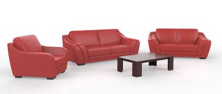sofa furniture isolated on white background Foto de archivo