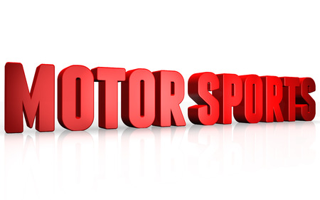 motor sports: 3D motor sports text on white background