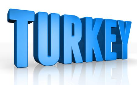 3d turkey: 3D turkey text on white background