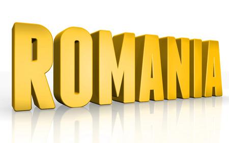 Texto rumania 3D sobre fondo blanco Foto de archivo