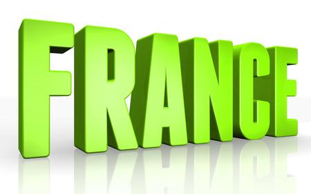 Texto 3D francia en el fondo blanco Foto de archivo
