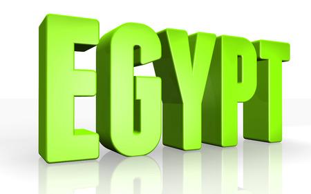 Texto 3D egipto en el fondo blanco