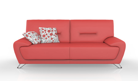 sofa furniture isolated on white background Banque d'images
