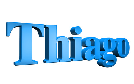 special individual: 3D Thiago text on white background