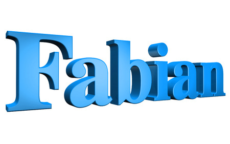 special individual: 3D Fabian text on white background