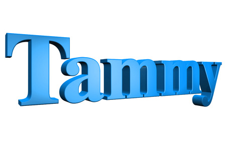 tammy: 3D Tammy text on white background