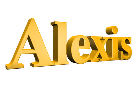 special individual: 3D Alexis text on white background