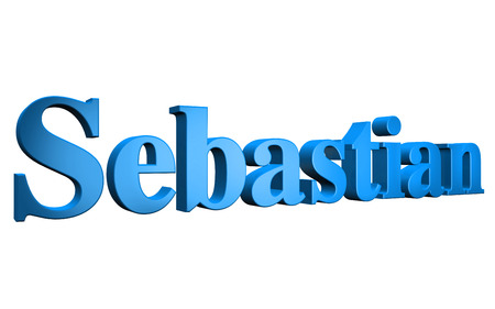 special individual: 3D Sebastian text on white background Stock Photo