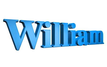 william: 3D William text on white background Stock Photo