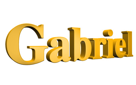 gabriel: 3D Gabriel text on white background