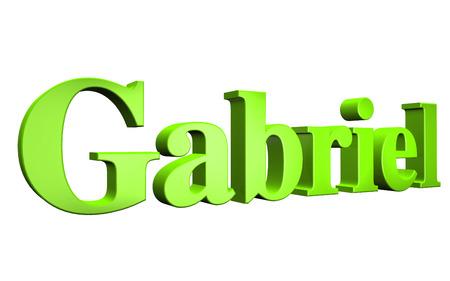 gabriel: 3D Gabriel text on white background