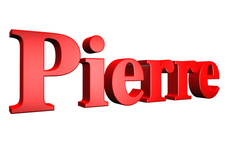 pierre: 3D Pierre text on white background