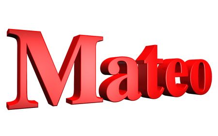 special individual: 3D Mateo text on white background