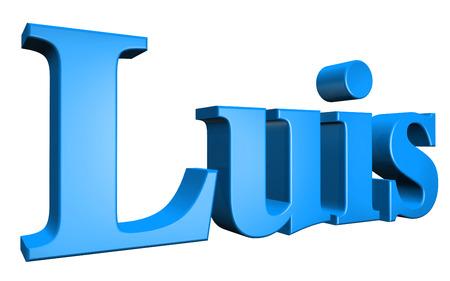luis: 3D Luis text on white background Stock Photo