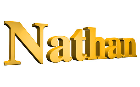 special individual: 3D Nathan text on white background