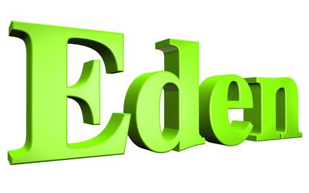eden: 3D Eden text on white background