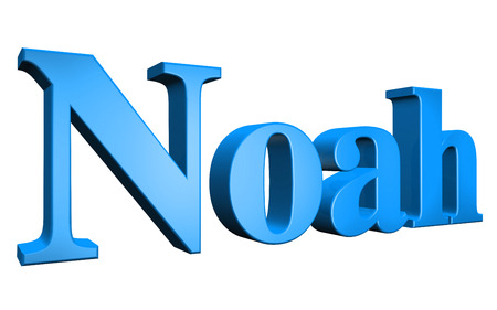 special individual: 3D Noah text on white background