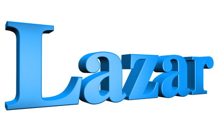 special individual: 3D Lazar text on white background Stock Photo