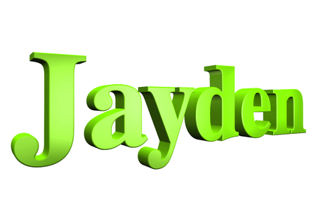 special individual: 3D Jayden text on white background
