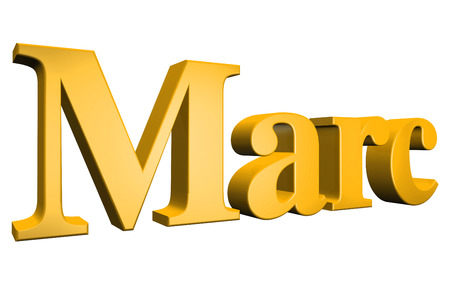 special individual: 3D Marc text on white background