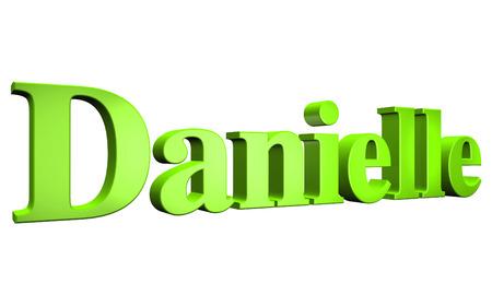 3D Danielle text on white background Stock Photo