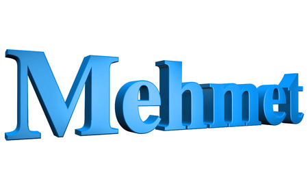 special individual: 3D Mehmet text on white background