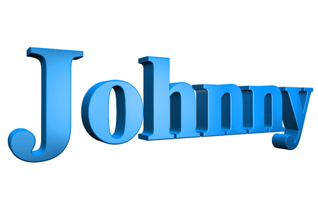 special individual: 3D Johnny text on white background Stock Photo
