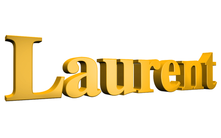 laurent: 3D Laurent text on white background