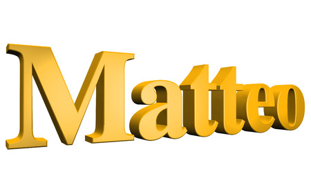 special individual: 3D Matteo text on white background Stock Photo