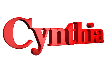 special individual: 3D Cynthia text on white background Stock Photo
