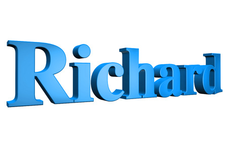 richard: 3D Richard text on white background Stock Photo