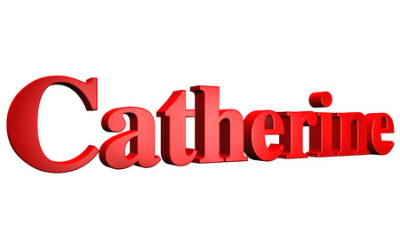 catherine: 3D Catherine text on white background
