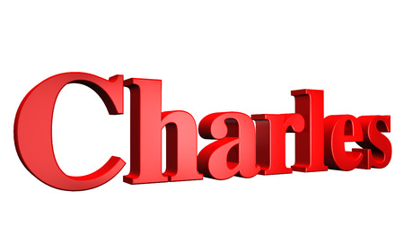 charles: 3D Charles text on white background
