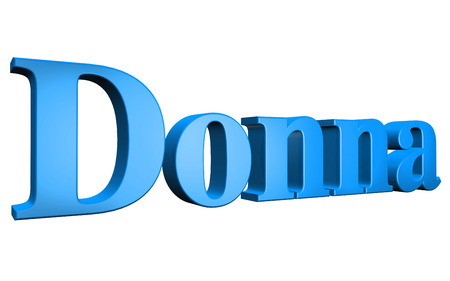 donna: 3D Donna text on white background