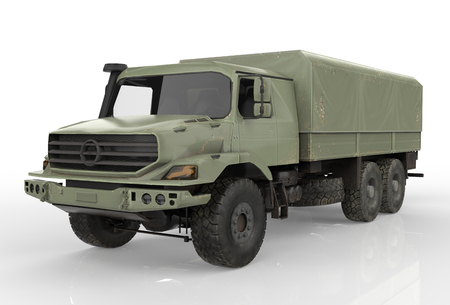 Military vehicle isolated on a white background - 3D Render