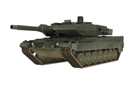 Military Tank isolated on white background – 3D Render Banque d'images