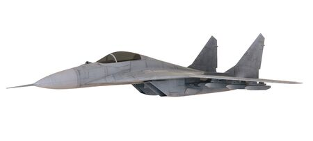 Fighter aircraft isolated on white background - 3D Render Zdjęcie Seryjne
