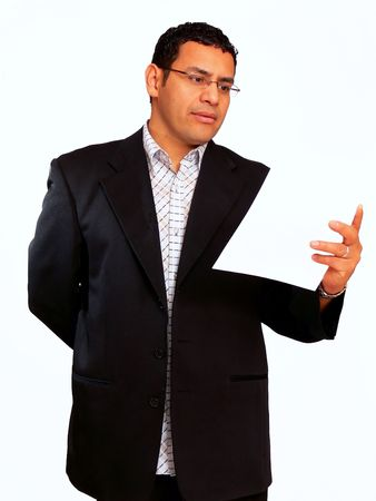 Businessman  60356A businessman has an presentation for his sales people over an newproduct. Stock Photo - 870033