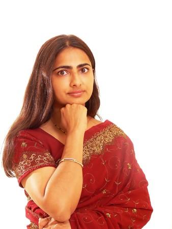 Portrait of Indian lady. photo