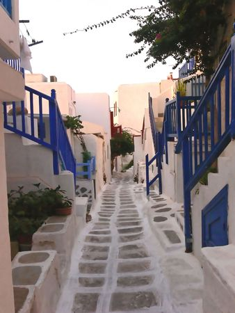 The island of mykonos.