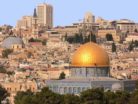 dom: Golden Dom � J�rusalem. Banque d'images