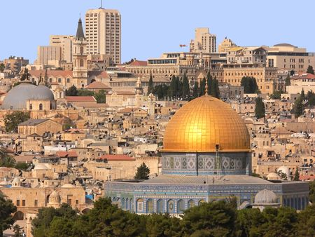 Golden Dom in Jerusalem. Stock Photo - 2102784